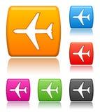 De pictogrammen van het vliegtuig Royalty-vrije Stock Foto