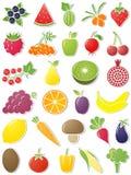 De pictogrammen van het voedsel. vector illustratie
