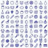 De pictogrammen van het voedsel Stock Afbeelding