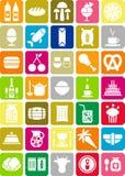 De pictogrammen van het voedsel stock illustratie