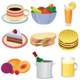 De pictogrammen van het voedsel. Royalty-vrije Stock Afbeeldingen