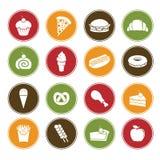 De pictogrammen van het voedsel Stock Afbeeldingen