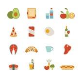 De Pictogrammen van het voedsel Stock Fotografie