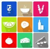 De Pictogrammen van het voedsel Royalty-vrije Stock Afbeeldingen