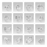 De Pictogrammen van het voedsel Stock Foto