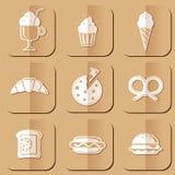 De Pictogrammen van het voedsel royalty-vrije illustratie