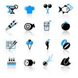 De pictogrammen van het voedsel Royalty-vrije Stock Afbeelding