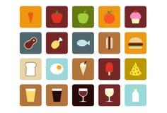 De Pictogrammen van het voedsel en van de Drank Stock Foto