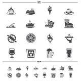 De pictogrammen van het voedsel en van de drank Royalty-vrije Stock Afbeeldingen
