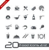 De Pictogrammen van het voedsel - Reeks 2 van 2 Grondbeginselen van // Royalty-vrije Stock Foto