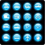 De pictogrammen van het voertuig Stock Fotografie