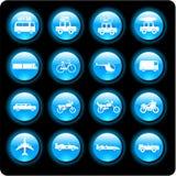De pictogrammen van het voertuig Stock Afbeelding