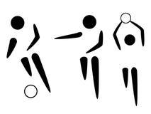 De pictogrammen van het voetbal Royalty-vrije Stock Fotografie