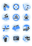De pictogrammen van het water vector illustratie