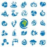 De pictogrammen van het water Stock Foto