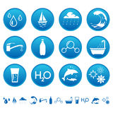 De pictogrammen van het water Royalty-vrije Stock Foto