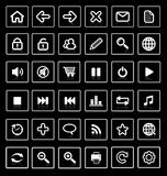 De pictogrammen van het Web. Stock Foto