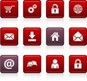 De pictogrammen van het Web. Royalty-vrije Stock Foto's