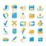 De Pictogrammen van het Web Royalty-vrije Stock Afbeelding