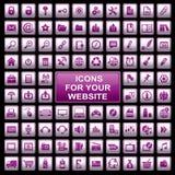 De pictogrammen van het Web Stock Foto's