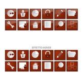 De pictogrammen van het Web Stock Foto