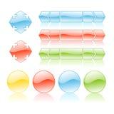 De pictogrammen van het Web Stock Fotografie