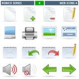De Pictogrammen van het Web [4] - Reeks Robico Stock Foto