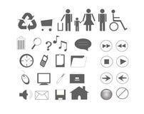 De pictogrammen van het Web vector illustratie