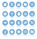 De Pictogrammen van het Web Royalty-vrije Stock Fotografie