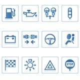 De pictogrammen van het Web: Auto I stock illustratie