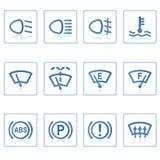 De pictogrammen van het Web: Auto II Stock Afbeelding