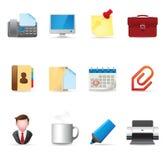 De Pictogrammen van het Web - Bureau Royalty-vrije Stock Foto