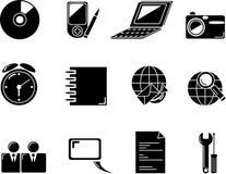 De pictogrammen van het Web. De knopen van Internet Stock Foto