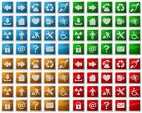 De pictogrammen van het Web en symboolknopen Royalty-vrije Stock Foto's