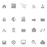 De pictogrammen van het Web en van de elektronische handel Stock Foto's