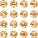 De pictogrammen van het Web en van de Gegevensverwerking. Stock Fotografie