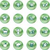 De pictogrammen van het Web en van de Gegevensverwerking. Royalty-vrije Stock Foto
