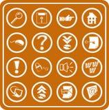 De pictogrammen van het Web en van de Gegevensverwerking Royalty-vrije Stock Fotografie
