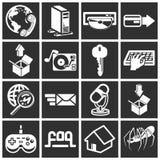 De pictogrammen van het Web en van de Gegevensverwerking Royalty-vrije Stock Foto