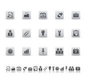 De pictogrammen van het Web en van het bureau Stock Foto's