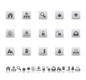 De pictogrammen van het Web en van het bureau Stock Afbeelding