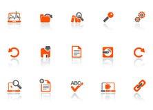 De pictogrammen van het Web en van het bureau Stock Afbeeldingen