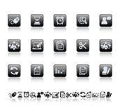 De pictogrammen van het Web en van het bureau Royalty-vrije Stock Afbeeldingen