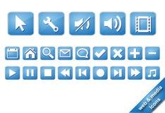 De pictogrammen van het Web en van Media royalty-vrije illustratie