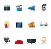 De Pictogrammen van het Web - Films Stock Afbeelding