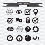 De pictogrammen van het Web geplaatst illustratie Stock Foto's