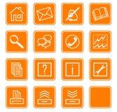 De pictogrammen van het Web geplaatst no.2 - orange.2 Stock Fotografie