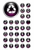 De pictogrammen van het Web, knopen Stock Afbeelding