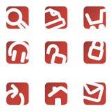De pictogrammen van het Web. Minimalistisch. Royalty-vrije Stock Foto
