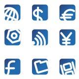 De pictogrammen van het Web. Minimalistisch. stock afbeeldingen